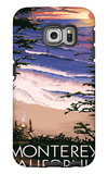 Monterey, California - Sunset and Beach Galaxy S6 Edge Case by  Lantern Press
