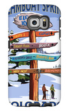Steamboat Springs, Colorado - Ski Run Signpost Galaxy S6 Edge Case by  Lantern Press