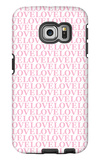Pink Love Love Love Galaxy S6 Edge Case by  Avalisa