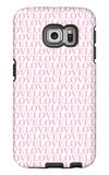 Pink Love Love Love Galaxy S6 Edge Case by  Avalisa