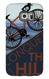 Conquer the Hill - Mountain Bike Galaxy S6 Edge Case by  Lantern Press