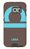 Libra Zodiac Sign Blue Galaxy S6 Edge Case by  NaxArt