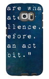 Inspirational Quote By On Earthy Background Galaxy S6 Edge Case by  nagib