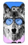 Woolf in Blue Glasses Galaxy S6 Edge Case by Lisa Kroll
