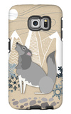 Winter Wolf Howling Galaxy S6 Edge Case by  Lantern Press