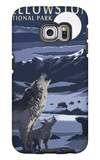 Lamar Valley Scene, Yellowstone National Park Galaxy S6 Edge Case by  Lantern Press