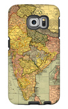 India - Panoramic Map Galaxy S6 Edge Case by  Lantern Press