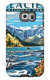 Avalanche Lake - Glacier National Park, Montana Galaxy S6 Edge Case by  Lantern Press