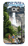 The Mist Trail - Yosemite National Park, California Galaxy S6 Edge Case by  Lantern Press
