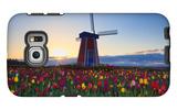 Tulip Field and Windmill Galaxy S6 Edge Case by  Lantern Press