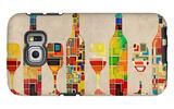 Wine Bottle and Glass Group Geometric Galaxy S6 Edge Case by  Lantern Press