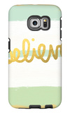 Believe Gold Galaxy S6 Edge Case by Linda Woods