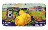 Bancroft, California, Mt. Diablo Fruit Farm Brand Pear Label Galaxy S6 Edge Case by  Lantern Press
