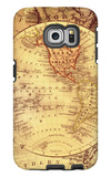 Vintage Map Western Galaxy S6 Edge Case by Malcolm Watson