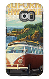 California Highway One Coast VW Van Galaxy S6 Edge Case by  Lantern Press