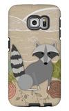 Spring Time Raccoon Galaxy S6 Edge Case by  Lantern Press
