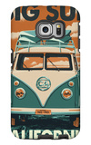 Big Sur, California - VW Van Blockprint Galaxy S6 Edge Case by  Lantern Press