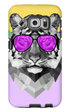 Party Tiger in Glasses Galaxy S6 Edge Case by Lisa Kroll