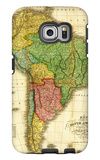 South America - Panoramic Map Galaxy S6 Edge Case por Lantern Press