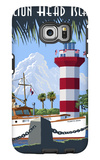 Hilton Head Island, SC - Harbour Town Lighthouse Galaxy S6 Edge Case by  Lantern Press