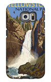 Tower Falls - Yellowstone National Park Galaxy S6 Edge Case by  Lantern Press