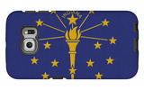 Indiana State Flag Galaxy S6 Edge Case by  Lantern Press
