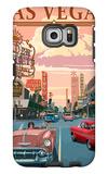 Las Vegas Old Strip Scene Galaxy S6 Edge Case by  Lantern Press