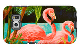 Hot Tropical Flamingo II Galaxy S6 Edge Case by Linda Baliko