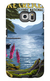 Olympic National Park, Washington - Lake Crescent Galaxy S6 Edge Case by  Lantern Press