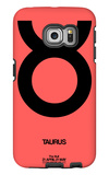 Taurus Zodiac Sign Black Galaxy S6 Edge Case by  NaxArt
