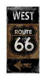 Route 66 West Giclee Print by Luke Wilson