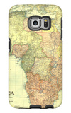 1922 Africa Map with portions of Europe and Asia Galaxy S6 Edge Case by  National Geographic Maps