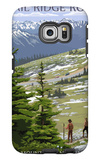 Trail Ridge Road - Rocky Mountain National Park Galaxy S6 Edge Case by  Lantern Press