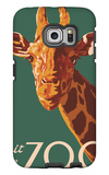 Visit the Zoo, Giraffe Up Close Galaxy S6 Edge Case by  Lantern Press