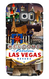 Las Vegas Casinos and Hotels Montage Galaxy S6 Edge Case by  Lantern Press