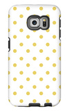 Yellow Polk-a-dots Galaxy S6 Edge Case by  Avalisa