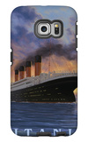 Titanic Scene - White Star Line Galaxy S6 Edge Case by  Lantern Press