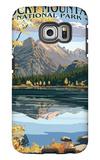 Long's Peak and Bear Lake - Rocky Mountain National Park Galaxy S6 Edge Case by  Lantern Press