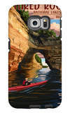 Pictured Rocks National Lakeshore, Michigan Galaxy S6 Edge Case by  Lantern Press