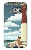 Barnegat Lighthouse - New Jersey Shore Galaxy S6 Edge Case by  Lantern Press