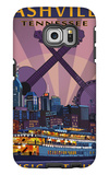 Nashville, Tennessee - Skyline at Night Galaxy S6 Edge Case by  Lantern Press