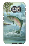 Rainbow Trout Jumping Galaxy S6 Edge Case