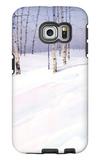 Winter Landscape with Birch Trees Galaxy S6 Edge Case
