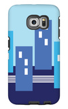 Blue Buildings Galaxy S6 Edge Case by  Avalisa