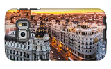 Panoramic View Of Gran Via, Madrid, Spain Galaxy S6 Edge Case by  kasto