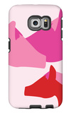 Pink Horses Galaxy S6 Edge Case by  Avalisa