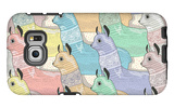 Seamless Pattern with Cute Lamas or Alpacas for Children or Kids Galaxy S6 Edge Case by cherry blossom girl