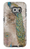 Peacock on Linen 2 Galaxy S6 Edge Case by Chad Barrett