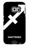 Sagittarius Zodiac Sign White Galaxy S6 Edge Case by  NaxArt
