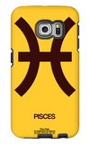 Pisces Zodiac Sign Brown Galaxy S6 Edge Case by  NaxArt